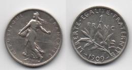 + FRANCE  + 1 FRANC 1909 + - Frankreich