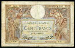 64-France Billet De 100 Francs 1936 KN F52921 - 1871-1952 Antiguos Francos Circulantes En El XX Siglo