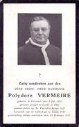Devotie Doodsprentje - Kanunnik - Deken Pastoor Polydore Vermeire - Oostende 1877 - Leeds 1937 - Obituary Notices