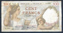 506-France Billet De 100 Francs 1939 NS Q1890 - 1871-1952 Circulated During XXth