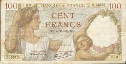 506-France Billet De 100 Francs 1940 KE H15572 - 1871-1952 Anciens Francs Circulés Au XXème