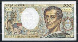 493-France Billet De 200 Francs 1989 Y074 - 200 F 1981-1994 ''Montesquieu''