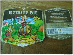 ETIQUETTE BIERE DE STOUTE BIE - Birra