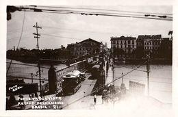 RECIFE - PERNAMBUCO : PONTE DA BÔA VISTA : TRAMWAY - CARTE VRAIE PHOTO / REAL PHOTO POSTCARD - YEAR ~ 1910 - '20 (w-525) - Recife