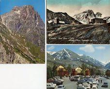 L'Aquila - Lotto 3 Cartoline GRAN SASSO D'ITALIA: PARETONE SUD DELLE TRE VETTE, ALBERGO CAMPO IMPERATORE, FUNIVIA - N65 - L'Aquila
