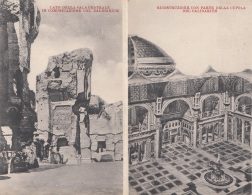 Doppelkarte BATHS OF CARACALLA - CALIDARIUM - Andere Monumente & Gebäude