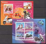 Y160 2008 GUINE-BISSAU TRANSPORTATION SCOOTERS 1BL+1KB MNH - Motorbikes