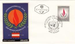 FDC-Brief Österreich 1968, Int.Jahr Der Menschenrechte - FDC