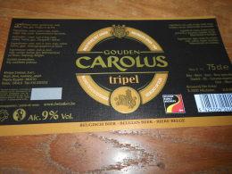 ETIQUETTE BIERE GOUDEN CAROLUS TRIPEL 3 ST - Cerveza
