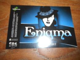 ETIQUETTE BIERE HOPJUTTERS ENIGMA STOUT - Beer