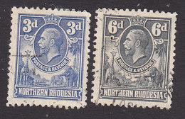 Northern Rhodesia, Scott #5, 7, Used, George V, Issued 1925 - Noord-Rhodesië (...-1963)