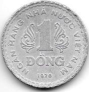 *  Vietnam  1 Dong 1976    Km 14    Vf+ - Viêt-Nam