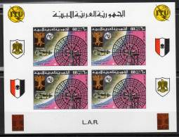 ESPACE - LIBYE - Bloc Collectif  N°635** Non Dentelé (1977) 100 Ans U.I.T / Vénus 9 Et 10 - Space