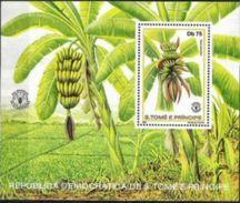 SAO TOME AND PRINCIPE, 1981, WORLD FOOD DAY, BANANAS, R#78, YV#B.28, SS, MNH - São Tomé Und Príncipe