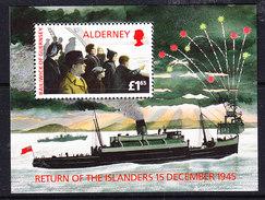 Alderney 1995 Return Of The Islanders M/s ** Mnh (F6572) - Alderney