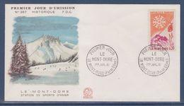 = Le Mont Dore Enveloppe 1er Jour N°1306 Le Mont Dore 1.7.61 Station De Sport D'Hiver - 1960-1969