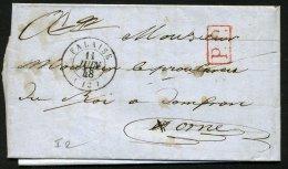 CALVADOS: Pli De FALAISE De 1848 En Port Payé Avec CàD Type 15 De FALAISE +PP (23)  P ORNE - Marcophilie (Lettres)