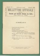 IPPICA CAVALLI  BOLLETTINO UFFICIALE DELLA SOC.PEL CAVALLO ITALIANO DA SELLA DEL MAGGIO 1922 - Médecine, Biologie, Chimie