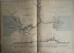 1900 PLAN ET PROFILS DU CANAL DE PANAMA - Travaux Publics