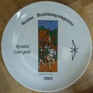 Assiette Retabel Lam Gods, De Ridders Van Christus Kunstbord - Archery