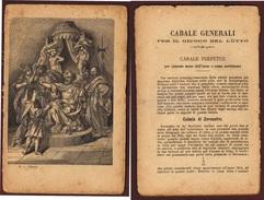 GIOCO DEL LOTTO  ANTICO LIBRO DA PAG. 1 A PAG. 160 SENZA COPERTINA E DA RILEGARE  MOLTO INTERESSANTE - Medicina, Biologia, Chimica