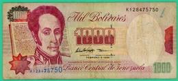 000 Bolivares - Vénézuéla - 1998 - N° K128475750 - TB+ - - Venezuela