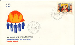 Turkey FDC 4-5-1988 Occupational Health And Safety Week With Cachet - FDC
