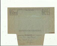 Telegramme De Meilleurs Voeux De Bonheur A L'Occasion Du Mariage De ALAIN CAILLAUX_Bossières En 1961 Voir Scan Details - Boda