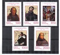 XAX106 VATICAN  1992   MICHL  1051/55 ** Postfrischer SATZ   SIEHE ABBILDUNG - Vatikan