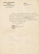 Deutschland Zefandtfchaf Passport Passeport Reisepass Military. Konsul Diplomatischen Diplomatic 2nd World War.1941 Nazi - Alte Papiere