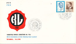 Turkey FDC 18-4-1988 80th Anniversary Of The Kabatas Boys Lyceum With Cachet - FDC