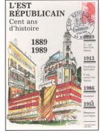 France -- L'EST REPUBLICAIN - Cent Ans D'histoire - 1889-1989 - Publicités