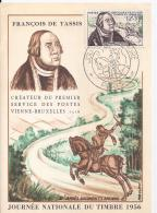 France -- Carte Postale   JOURNEE DU TIMBRE 1956 - 1950-1959