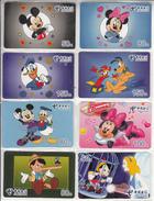 CHINA - Disney, Set Of 8 China Telecom Prepaid Cards, Exp.date 30/06/05, Mint - Télécartes