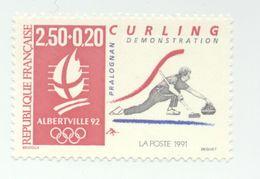 2680- J.O D'Albertville 92 -curling (1991) - Frankreich