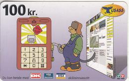 GREENLAND - USASS/Tele Post Prepaid Card 100 Kr., Exp.date 01/08/12, Used - Groenlandia