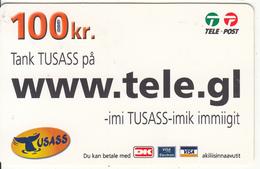 GREENLAND - Www.tele.gl, USASS/Tele Post Prepaid Card 100 Kr., Exp.date 16/04/11, Used - Greenland