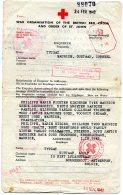 England POW Red Cross Dokument 1942 - 1902-1951 (Koningen)