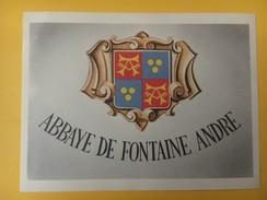 4632 - Abbaye De Fontaine André Neuchâtel Suisse - Etiquettes