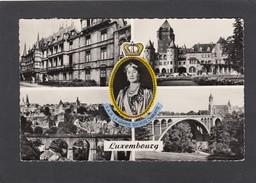 LE PALAIS GRAND-DUCAL.CHATEAU DE COLMAR-BERG.VUE GENERALE.LE PONT ADOLPHE ET LA CAISSE D'EPARGNE. - Luxemburgo - Ciudad