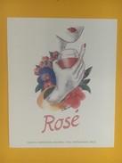 4644 -  Etiquette Rosé Belle Illustration Vin Inconnu - Etiquettes