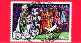 ZAMBIA - Usato - 1972 - Natale - Christmas - Noel - Navidad - Maria E Gesù - 15 - Zambia (1965-...)