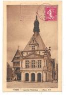 Carte Exposition Philatelique Peronne 1929 Daguin Avec 1f10 Semeuse - France
