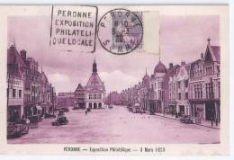 Carte Exposition Philatelique Peronne 1929 Daguin Avec Semeuse Caisse D'amortissement 7 - France