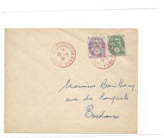 Enveloppe Exposition Philatelique Limoges 1930 Avec Blanc Cachet Rouge - France