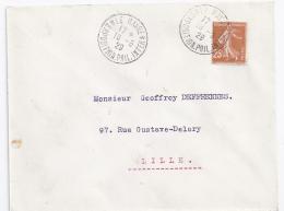 Enveloppe Exposition Philatelique  Internationale Le Havre 1929 Avec 25 C  Semeuse 2 - France