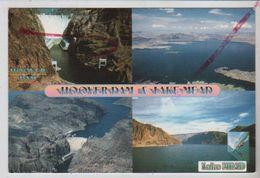 Cpm St003462 Views Of Hoover Dam And Lake Mead Barrage Hoover 4 Vues Sur Carte - Etats-Unis