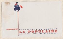 721  BUVARD VETEMENTS DETRAVAIL LE POPULAIRE VILLEFRANCHE SUR SAONE TACHE - Textile & Clothing
