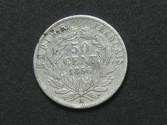 50 Centimes NAPOLEON III  - 1856 A - Tête Nue .  ***** EN ACHAT IMMEDIAT ***** - Francia