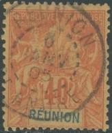 Réunion 1885-1901 - N° 41 (YT) N° 41 (AM) Oblitéré De St-André. Défectueux. - Oblitérés